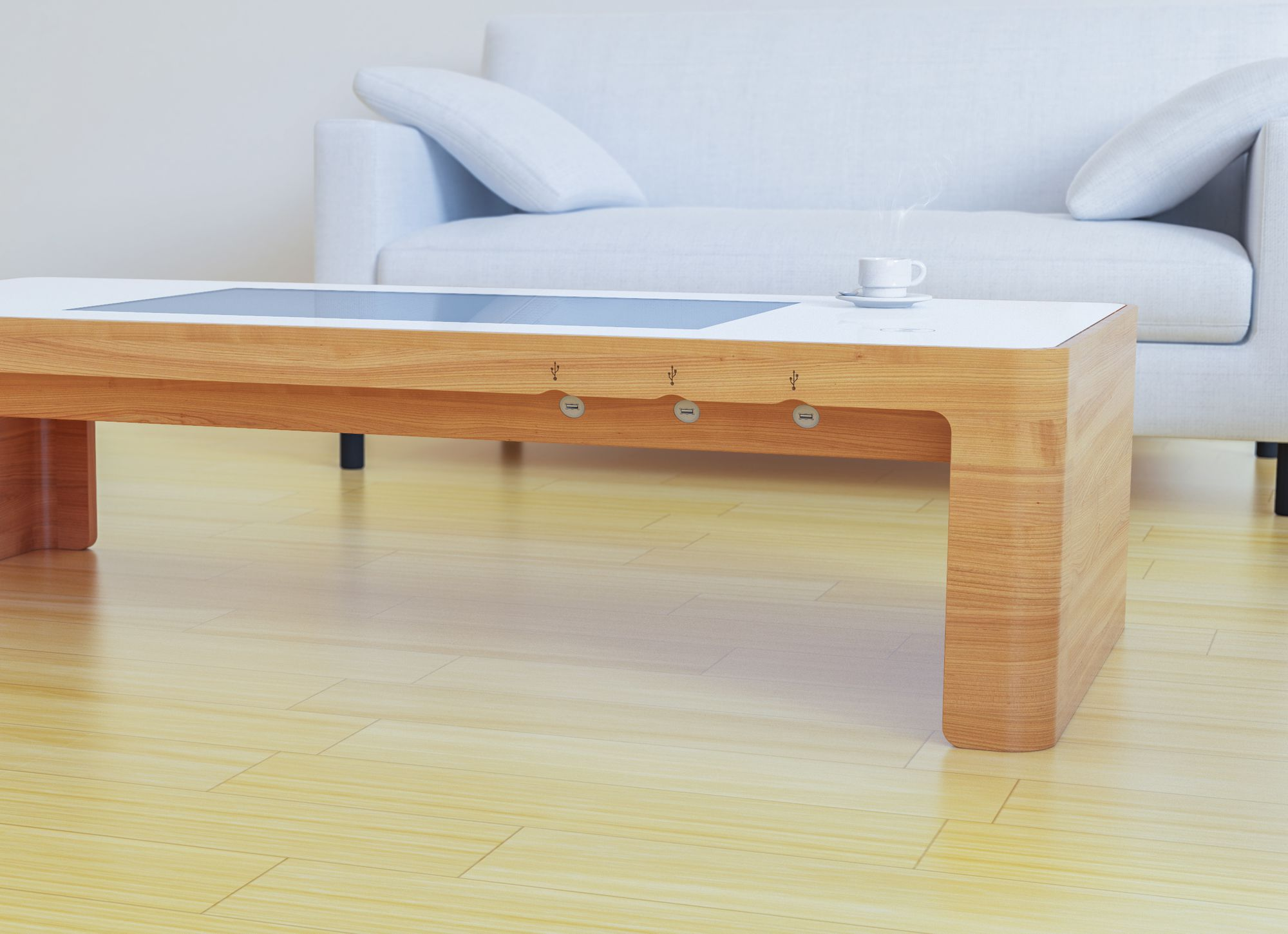 custom interactive solutions interactive coffee table