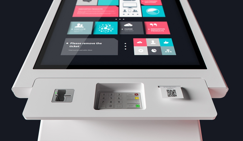 minimal interactive kiosks moobo minim payment system