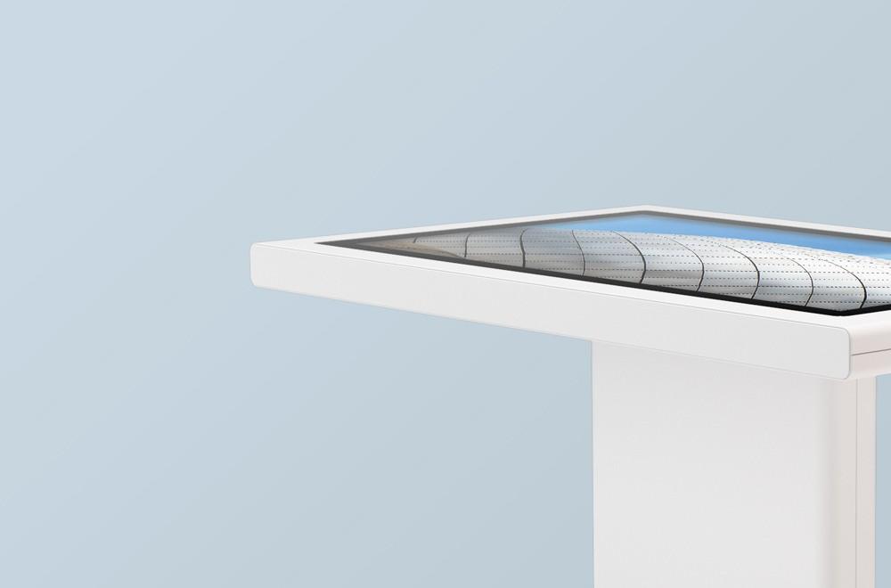 minimal interactive kiosks moobo minim h table gallery