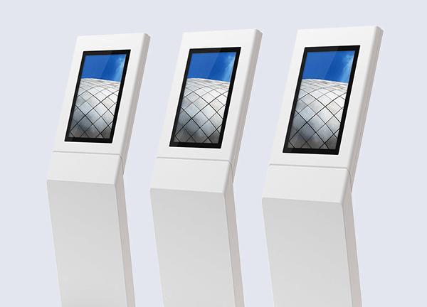 Minim - Minimal Interactive Kiosks - A Freestand line up